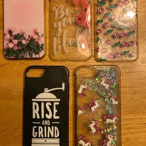 EUC! IPHONE 7 cases. The top 3 are either new!